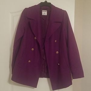 Old navy plum colored peacoat